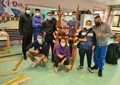 Construction participative de mobilier à la Martinoire